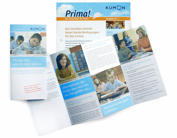 KUMON Newsletter und Flyer
