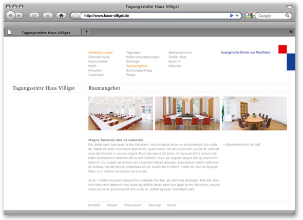Haus Villigst Website